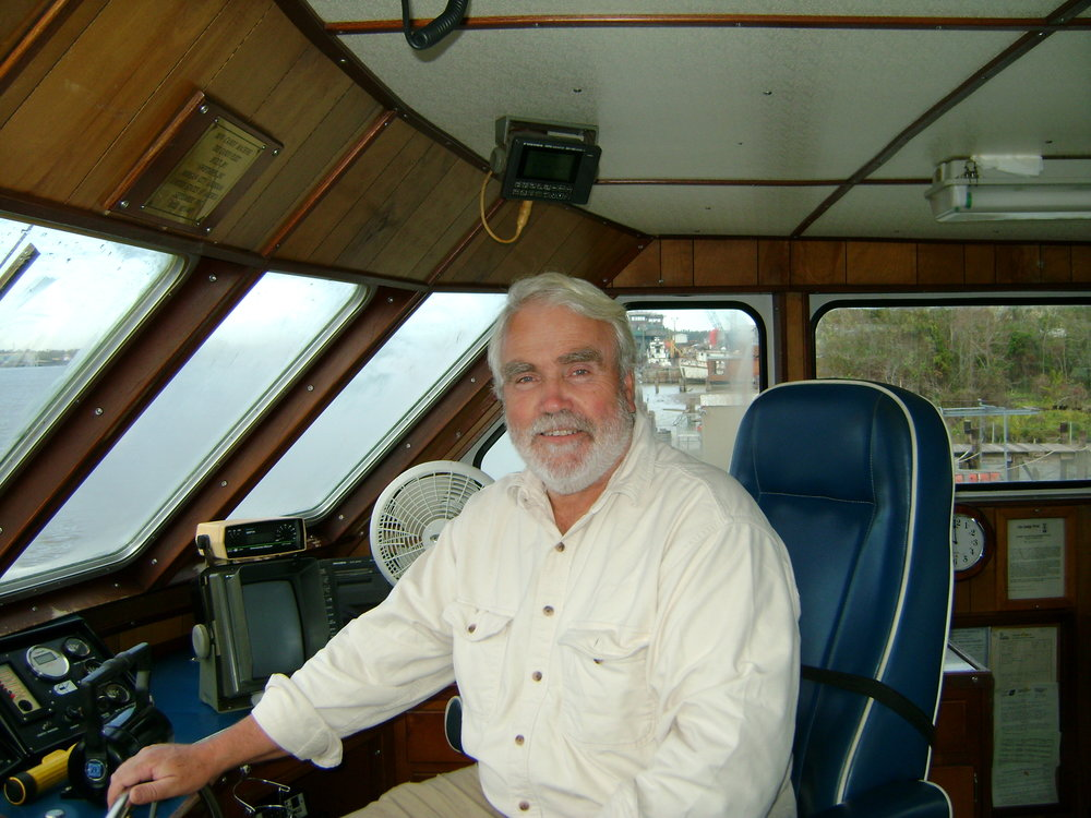 Phil on a crewboat