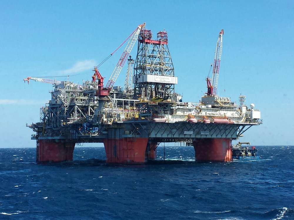 Thunder Horse, largest floating platform in the Gulf of Mexico.