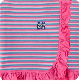 ed7555b1d1 Kickee Pants Ruffle Toddler Blanket - Flamingo Anniversary Stripe