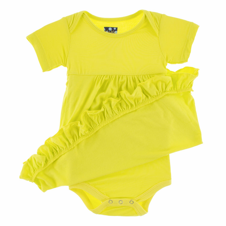 9edd5ed83d8 Kickee Pants Short Sleeve One Piece Dress Romper - Solid Banana ...