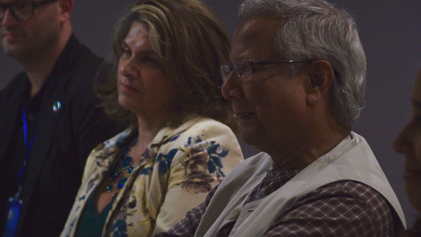 Nobel Peace Prize Winner and creator of Social Business Professor Muhammad Yunus making a cameo in our film! #professoryunus #socialbusiness #documentary #womanmakingfilms #nobelpeaceprize #charitable #PSkitchen #filmstills