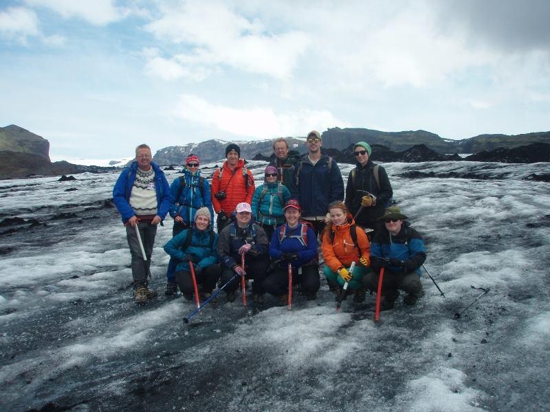 Traversing Sólheimajökull Glacier, Iceland