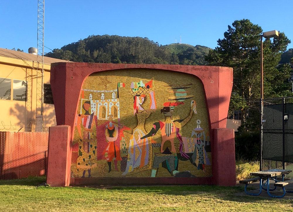 Varda Mosaic Mural - Marinship Park