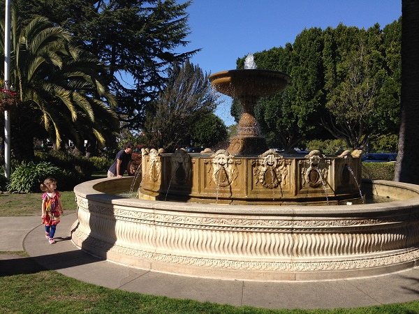 Restoration of the Vina del Mar Fountain - Originally created for the San Francisco Pan Pacific Exposition. Central downtown plaza, named for first Sister City which is in Chile. In honor of the nation's bicentennial.