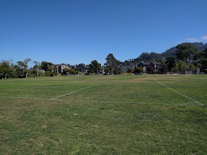 MLK Playground, Soccer Field - Refurbish MLK Playground, soccer field at former elementary school, northern Sausalito