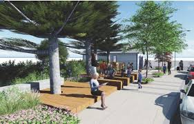 Ice House Plaza - Exterior refurbishment and landscaping in coordination with Sausalito Historical Society. Bridgeway at Bay Street