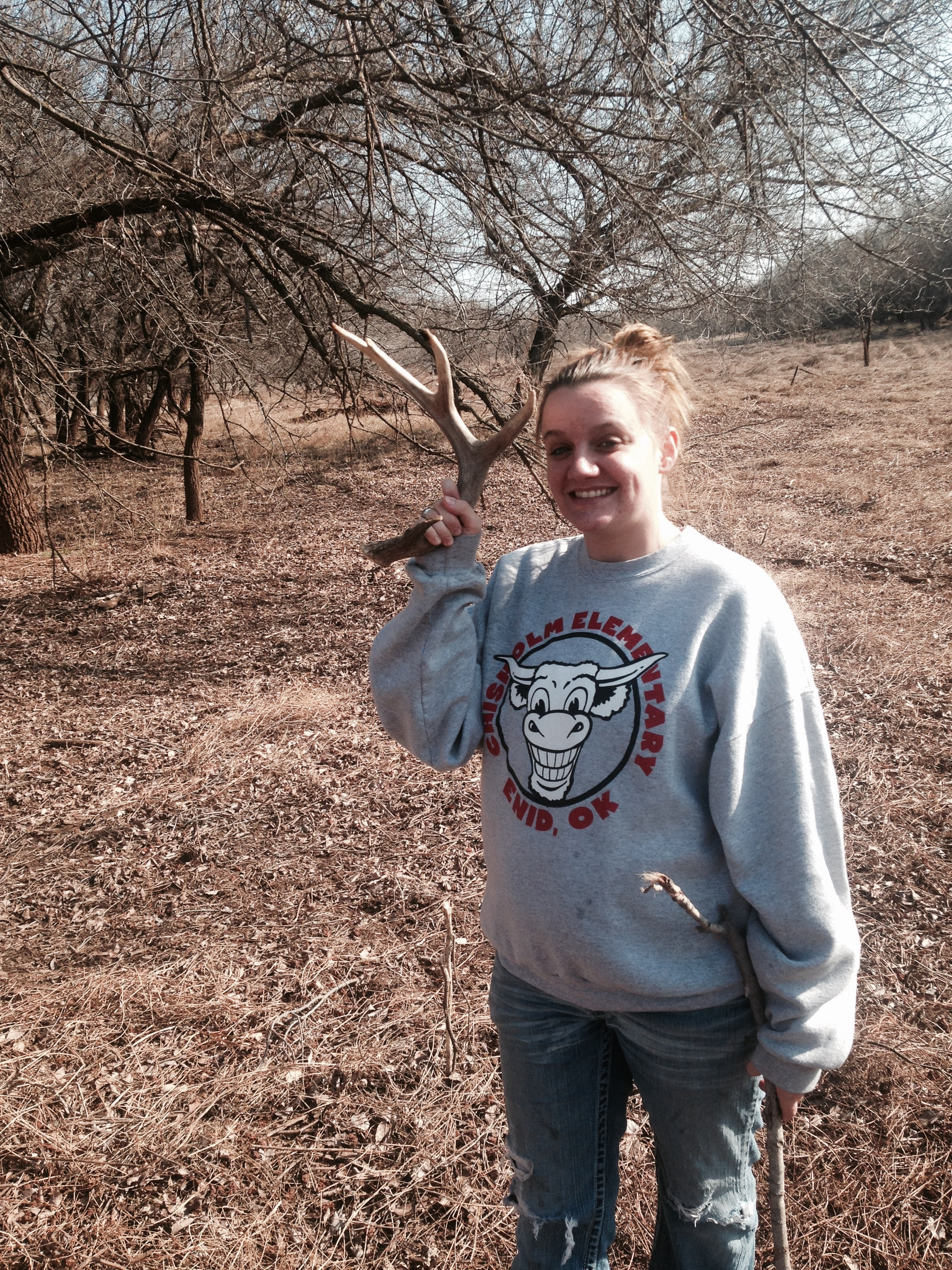 Brittani shed hunting NW Oklahoma SHED HUNTING BASICS https://reelcamogirl.wordpress.com/2015/02/20/shed-hunting-basics/