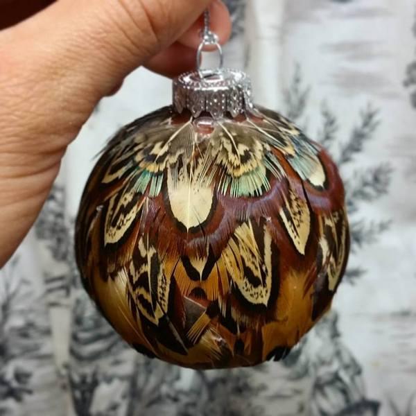 DIY Pheasant Ornament