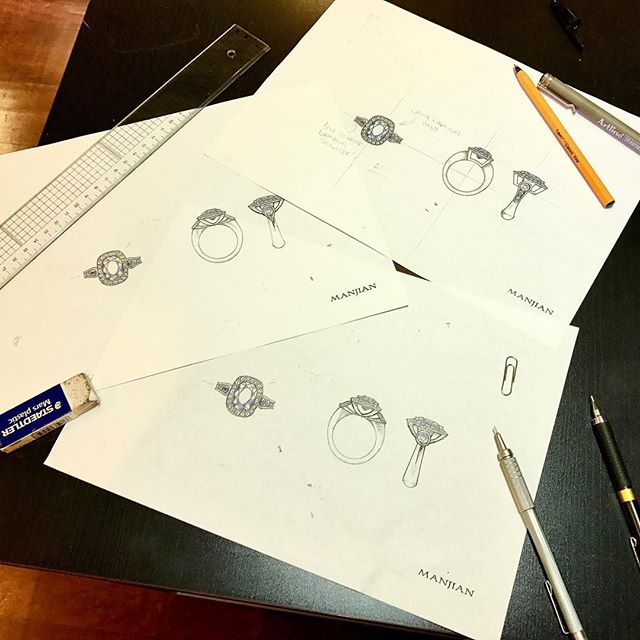 Collaborating with our client in London: Skype calls, flexible hours and many design iterations! Each drawing allowed us to explore the different options and better understand what their ideal ring would be. .  #manjiandesign #therocks #benchjeweller #bespokefinejewellery #jewellerydesign #jeweller #sydney #bridetobe #engagement101 #design #sydney #handmade #ceylonsapphire #bespoke #custommade #customjewelry #jewelrydesigner #designer #creativity #jewellery #marryme #ido #bridalinspiration #shesaidyes #dreamscometrue #jewelryaddict #instajewelry #ringinspo