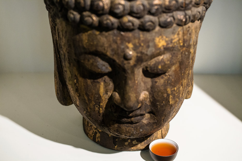 Like the Buddha.  Be at peace, and drink the tea.