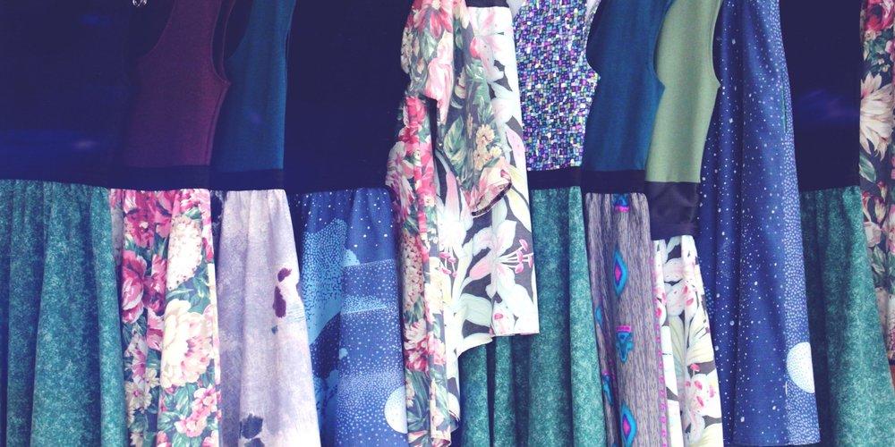 An array of dresses by Ola Dubois
