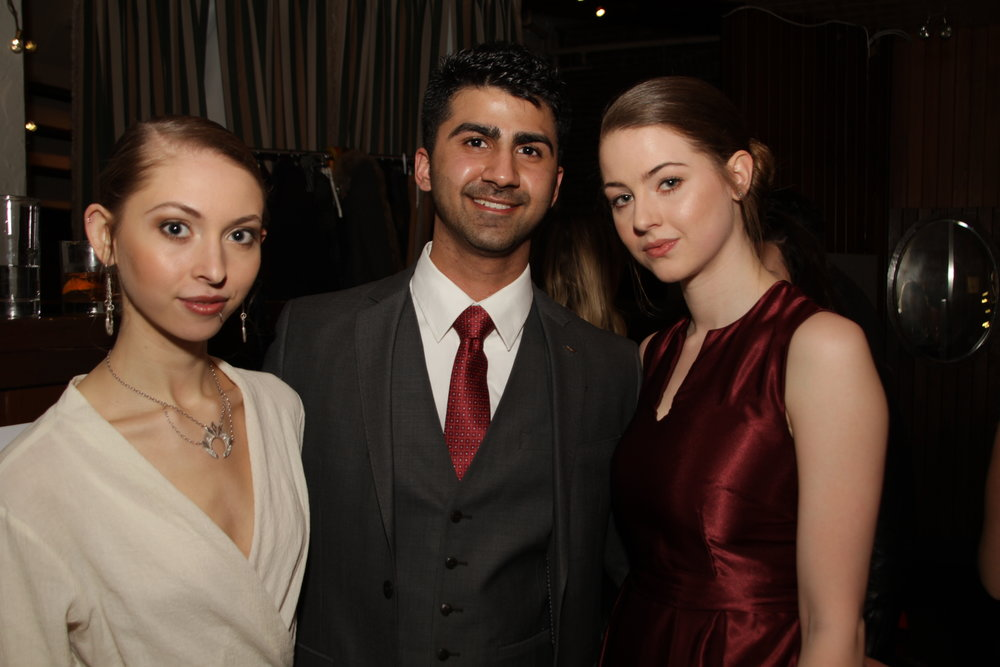 Models Geneva Frampton, Sunny Duggal and Alicia Maclaren at the Victoria Fashion Week VIP Launch Party. Photo by Gregory Forsberg.