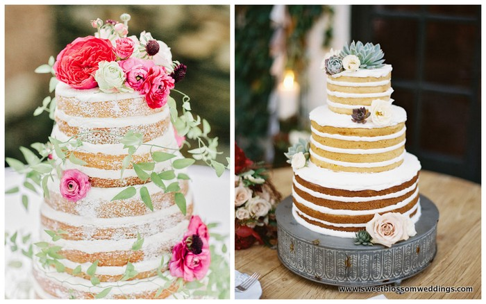 3. Naked Wedding Cake - We love the way these cakes photograph…we just wonder if they are sweet enough.