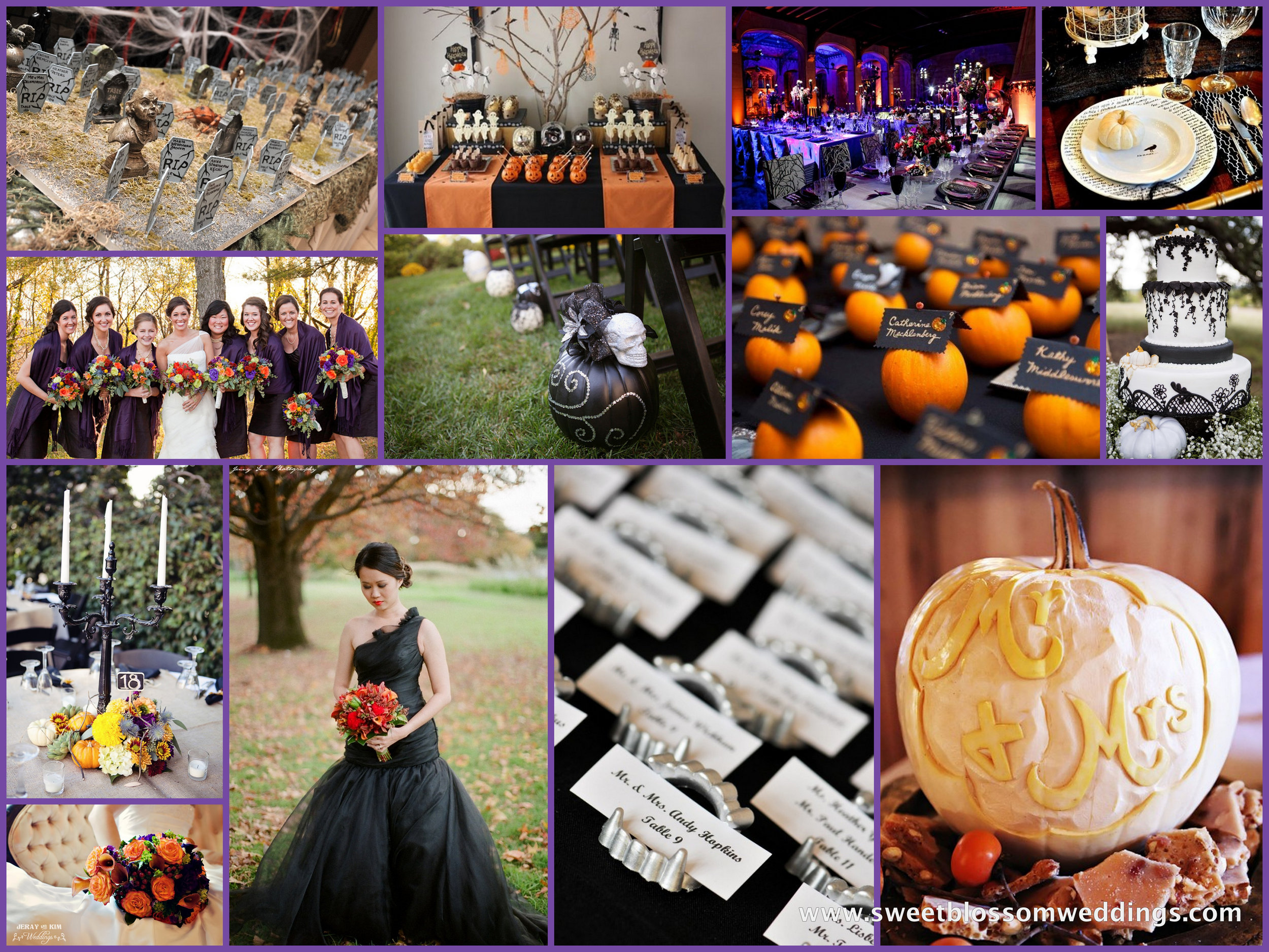 Halloween Wedding Inspiration — Sweet Blossom Weddings