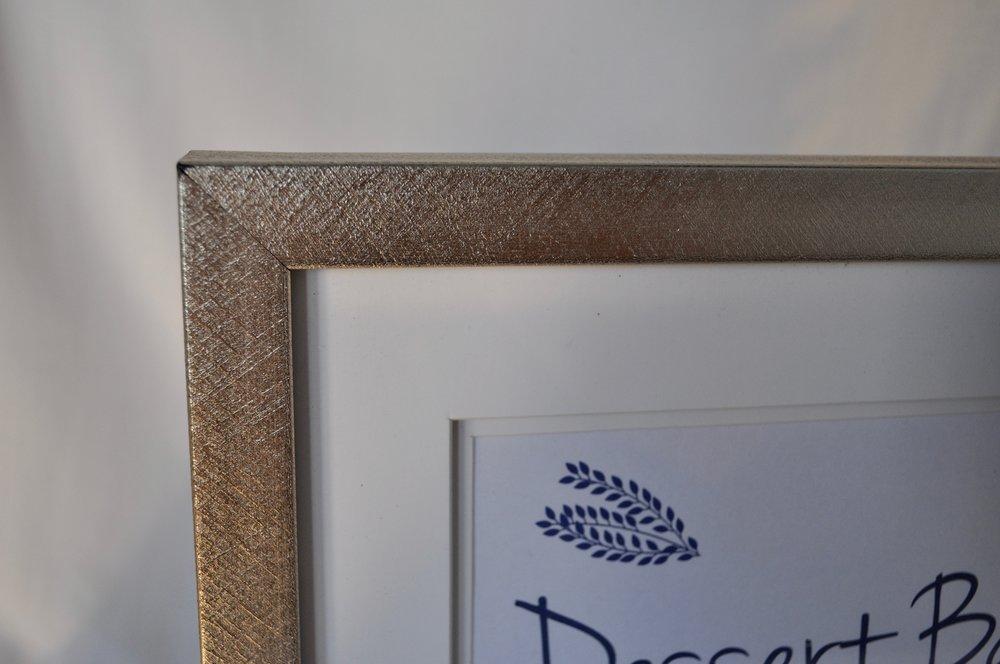 "Brushed Metalic Frame 5x7"" - Qty: 1"