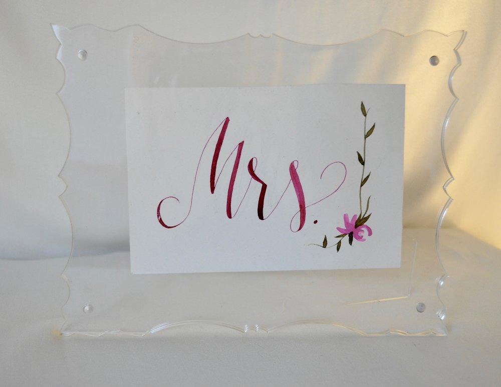 """Acrylic Frame 5x7"""" - Qty: 1"""