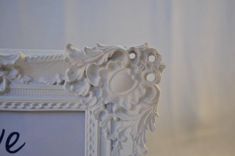 "Vintage White Frame 4x6"" - Qty: 1"