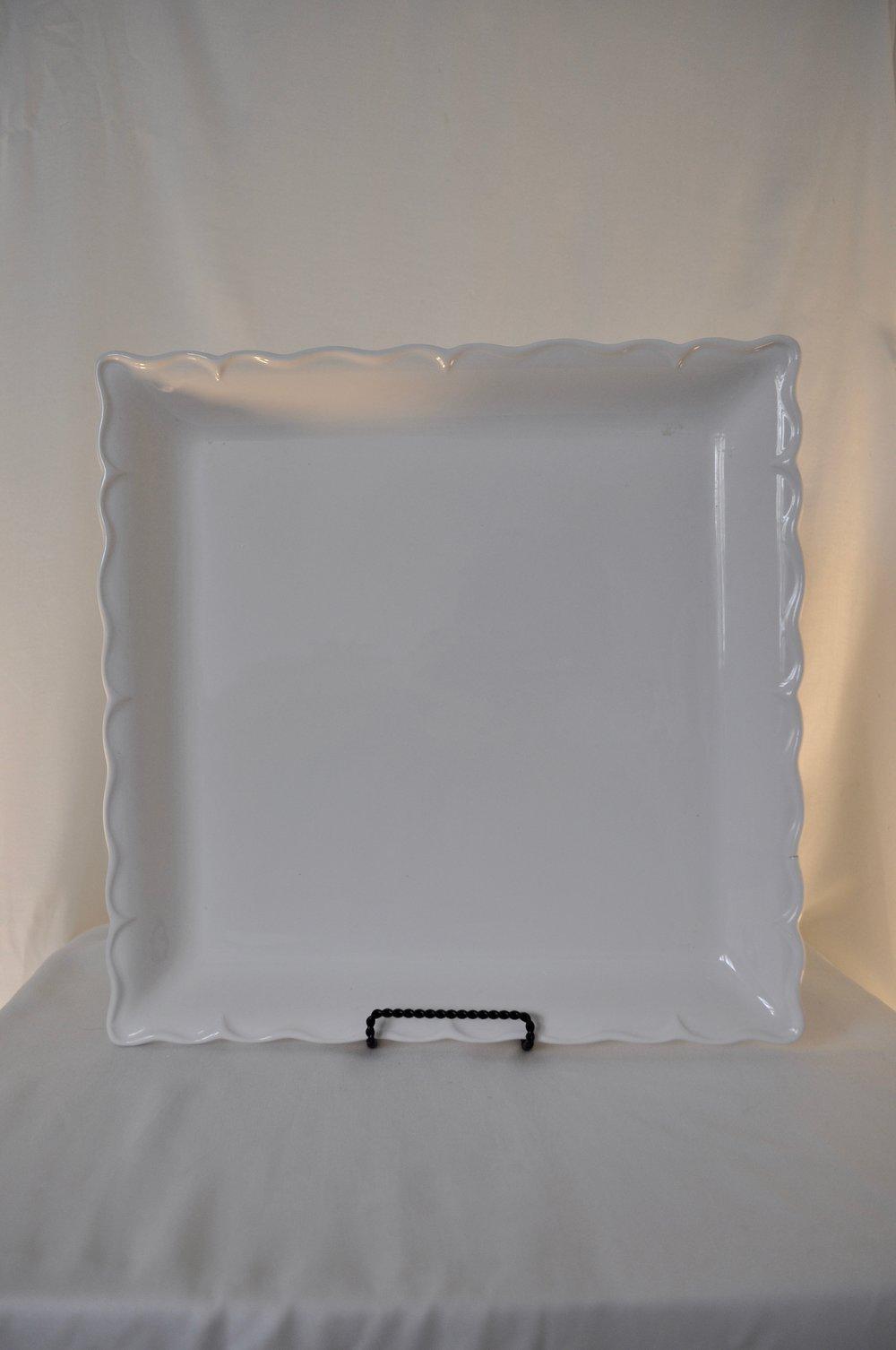 "White Square Cake Plates 12.5x12.5"" - Qty: 2"