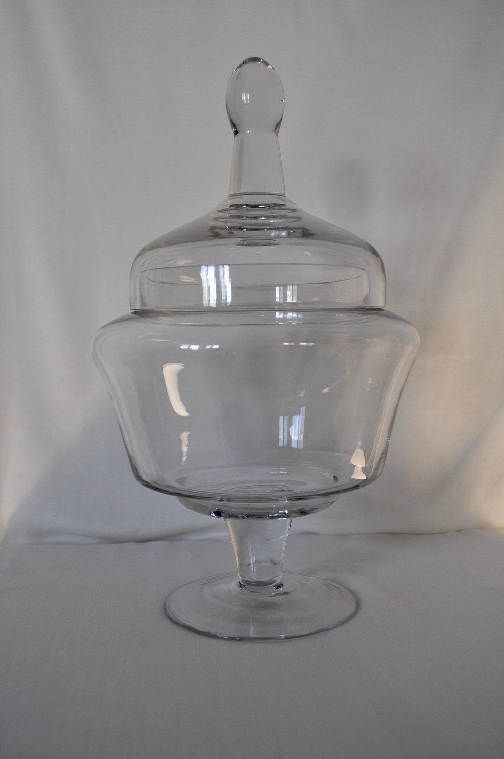 "Glass Candy Jar 6x15"" - Qty: 2"