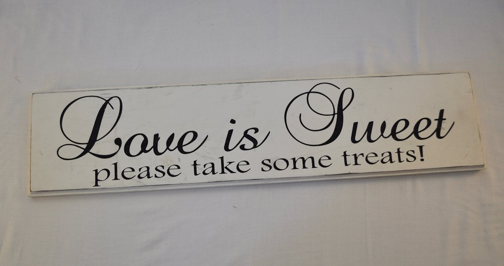 Dessert Table Sign - Qty: 1