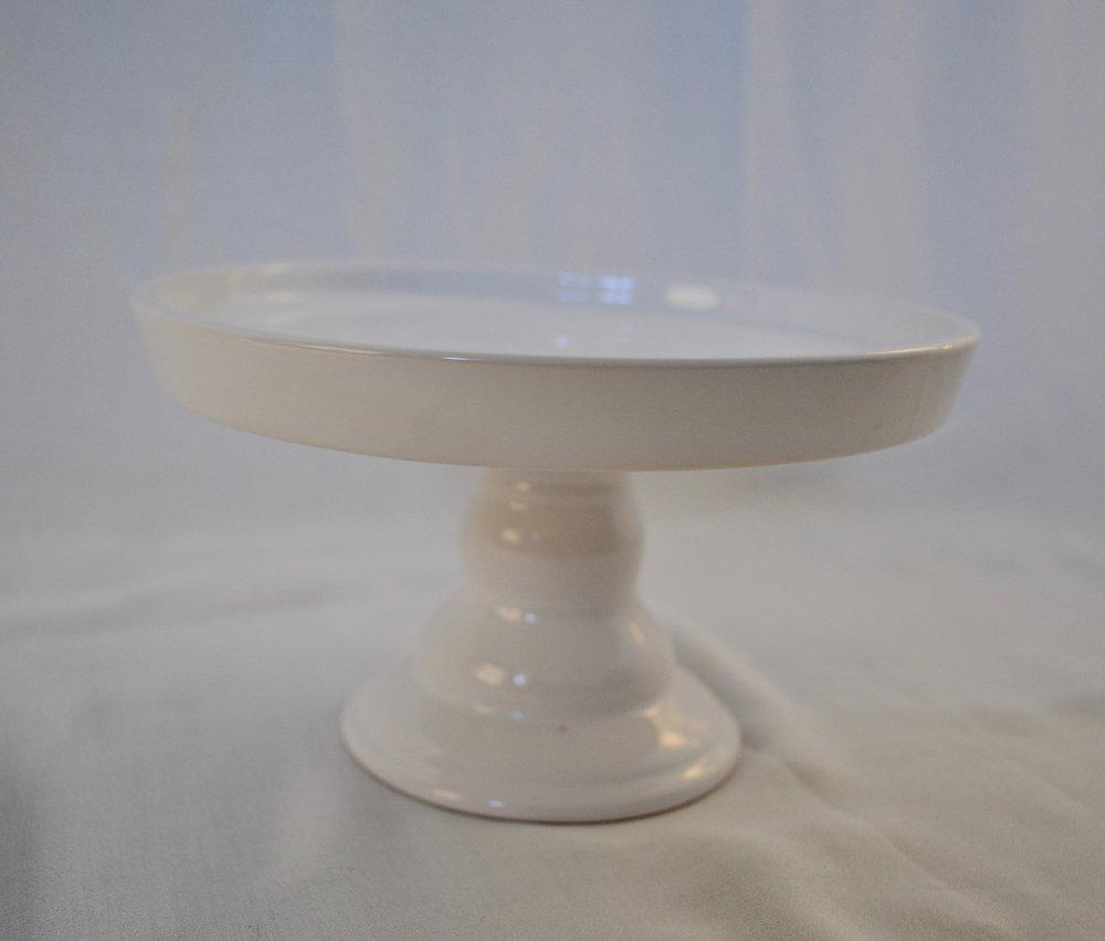 "White Dessert Platter 7"" dia x 5"" tall - Qty: 2"