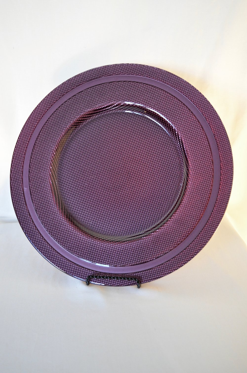 Purple Charger Plates - Qty: 2
