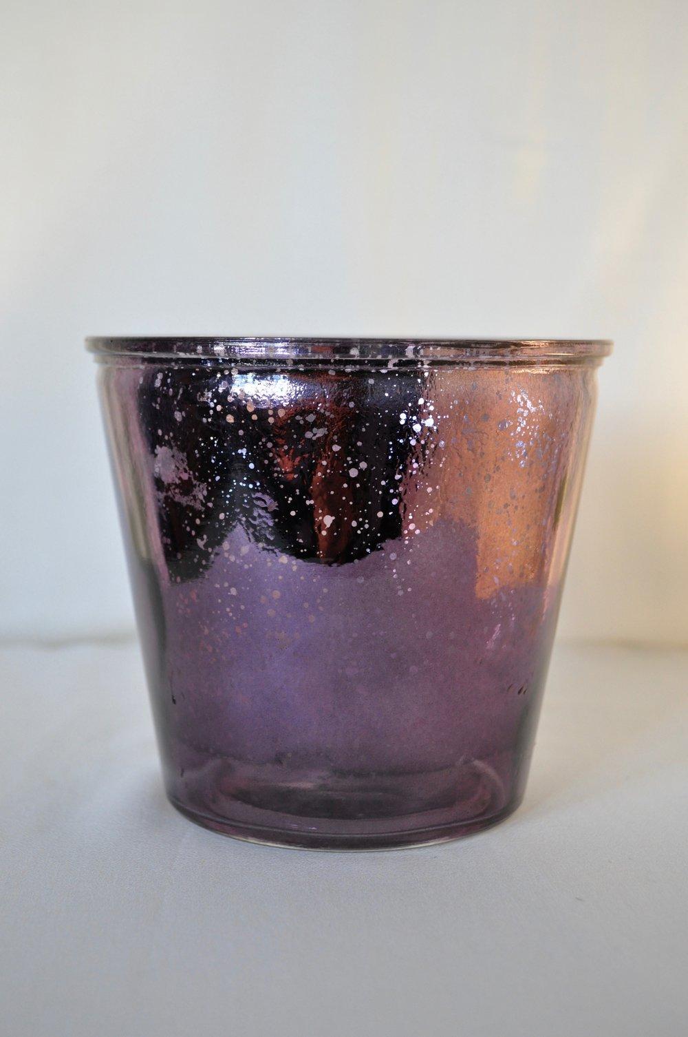 Purple Candle Holders - Qty: 2