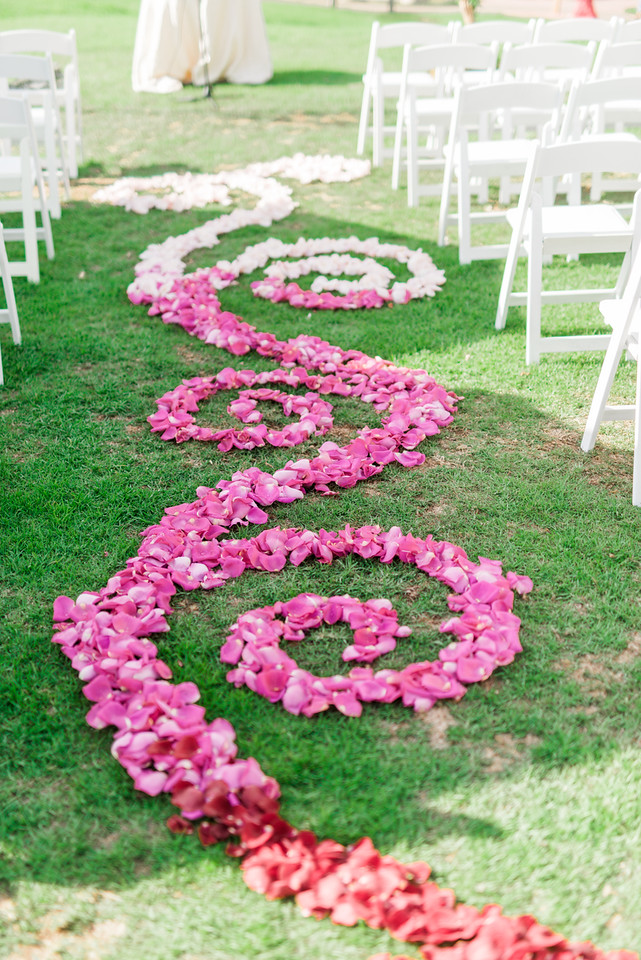Flower Petal Aisle Design - Florist: Organic Elements Photo By: Alex W Photography