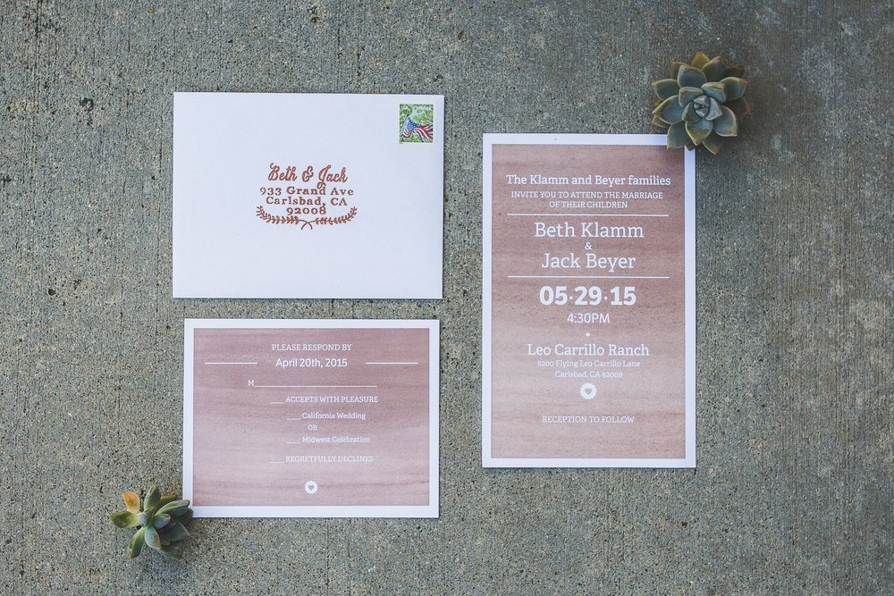 simple wedding invitation with rsvp