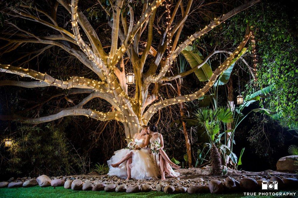 enchanted forest san diego lesbian wedding