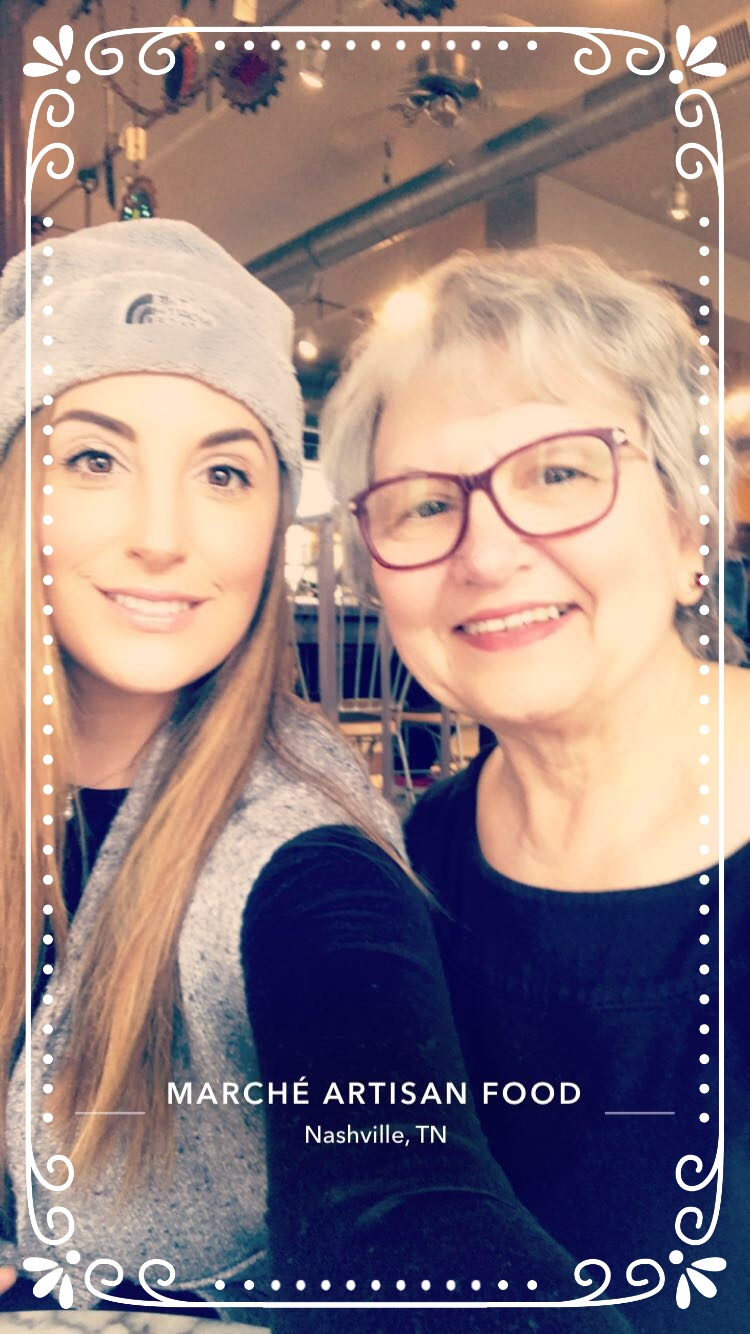 #lunchclub - So my mom and I started a two person lunch club. We love trying new restaurants, and now that Nashville is a hot new foodie town, our possibilities are endless! Today we brunched at Marche' Artisan Foods near Historic East Nashville in