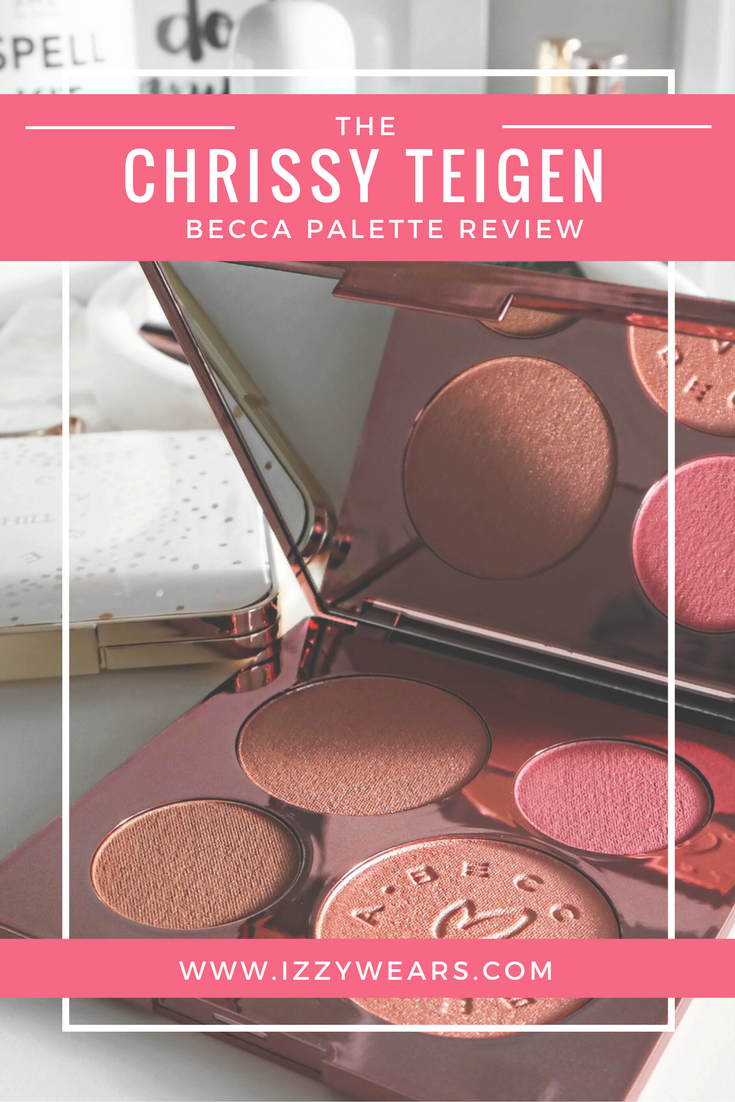 Chrissy Teigen Becca Glow Face Palette Review | Izzy Wears Blog