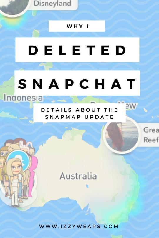 Why I deleted Snapchat | Izzy Wears Blog