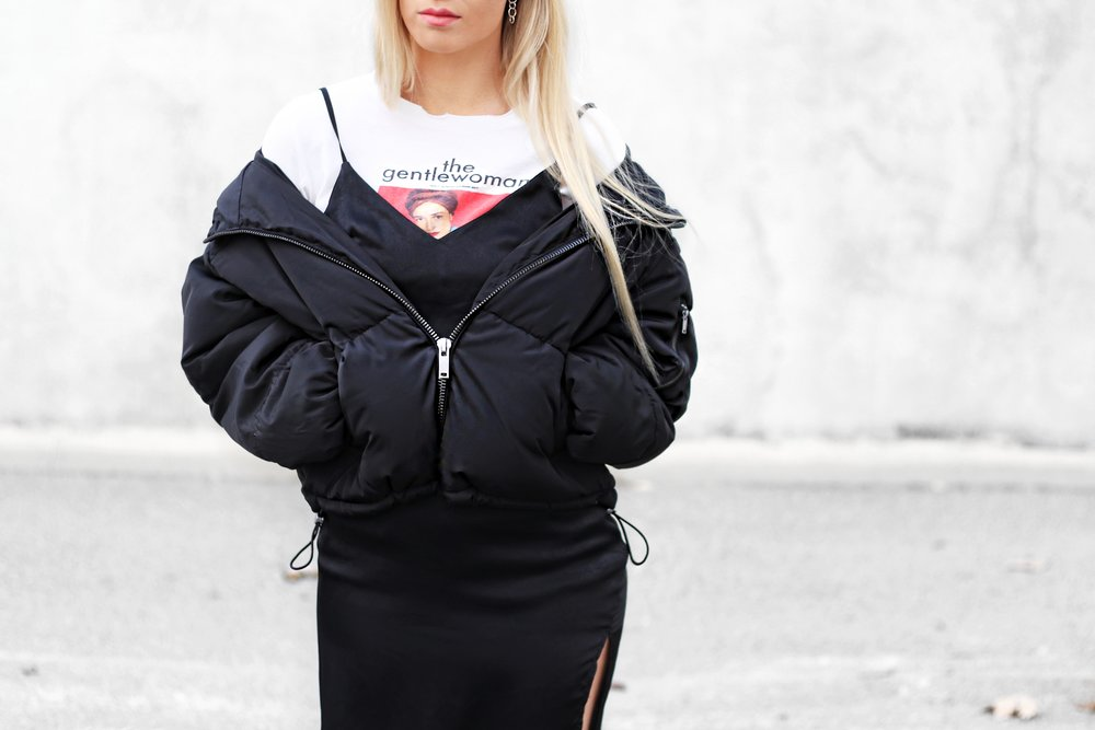 Black Puffer Jacket | Izzy Wears Blog