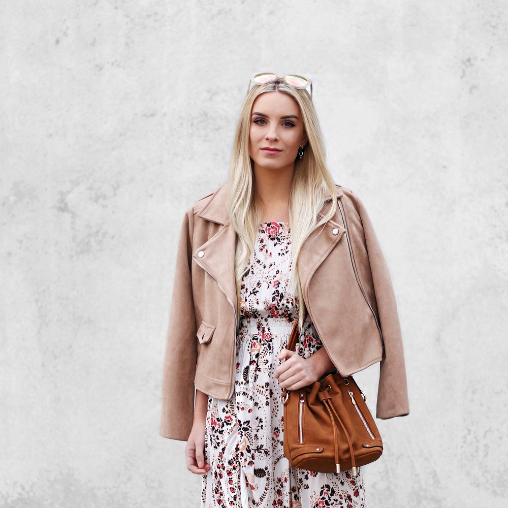 Camel Suede Jacket Winter Styling | Izzy Wears Blog