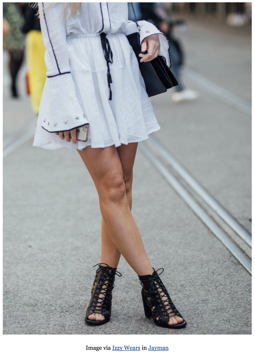 Jayman Mollini Black Lace Up Heel | Izzy Wears Blog