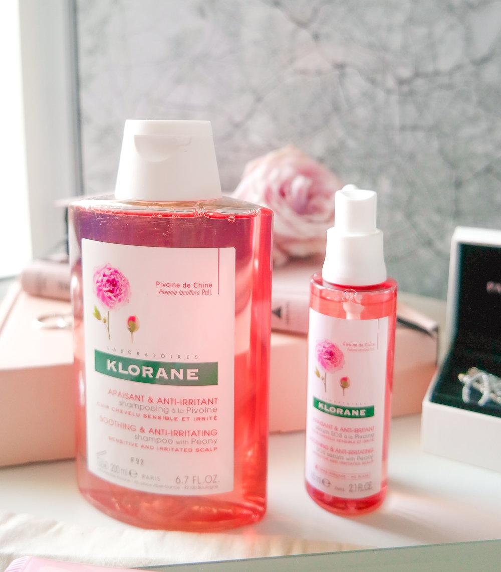 Klorane Shampoo with Peony & SOS Serum