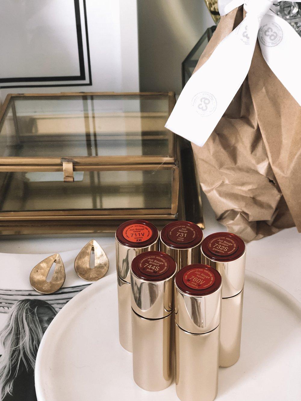 Clarins Joli Rouge Lipsticks Labels