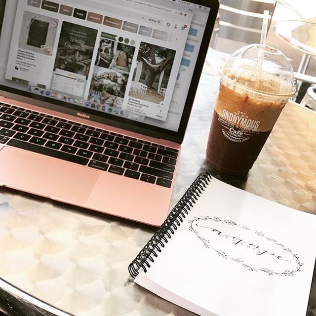 Just enjoying this beautiful morning at a favorite local coffee shop planning some upcoming weddings! 🤗💍👰🏻🤵🏻 If you or someone you know is looking for any help with planning to coordinating a wedding, send them our way! 😊