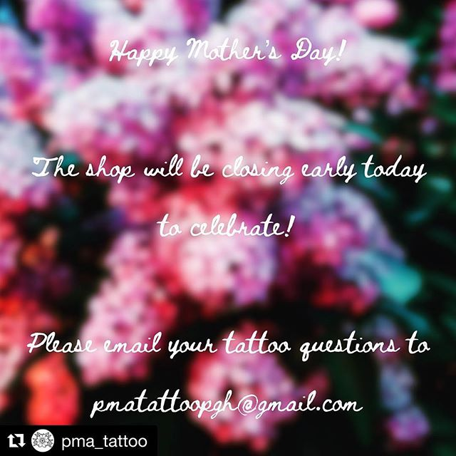#Repost @pma_tattoo with @get_repost ・・・ Hooray for Moms!!! Where would we be without them 😉🤔... Please email your tattoo questions to pmatattoopgh@gmail.com