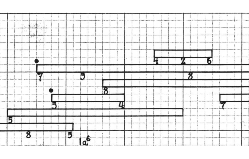 Excerpt of the  Imaginary Landscape No. 5  score.
