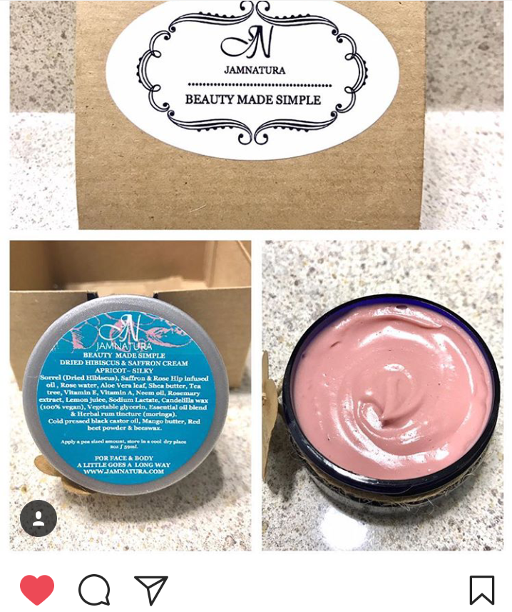 - NIKI TRIED OUR DRIED HIBISCUS CREAM AND LOVED THE RESULTS!