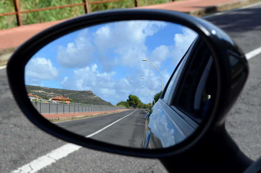 54358234 - heard someone comparing your past to what you see in a rearview mirror