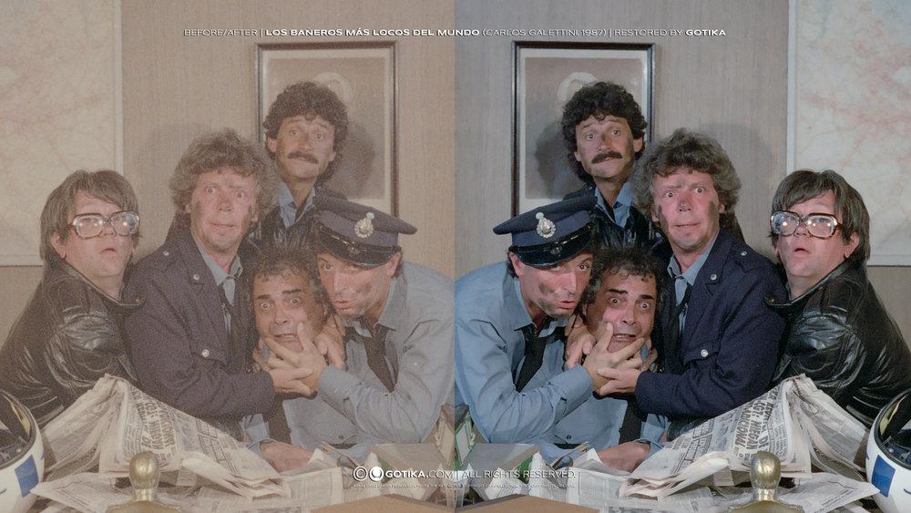 Before/A  fter |Los Bañeros Má  s Locos D  el Mundo (Carlos Galettini, 1987) | Restored  by GOTIKA