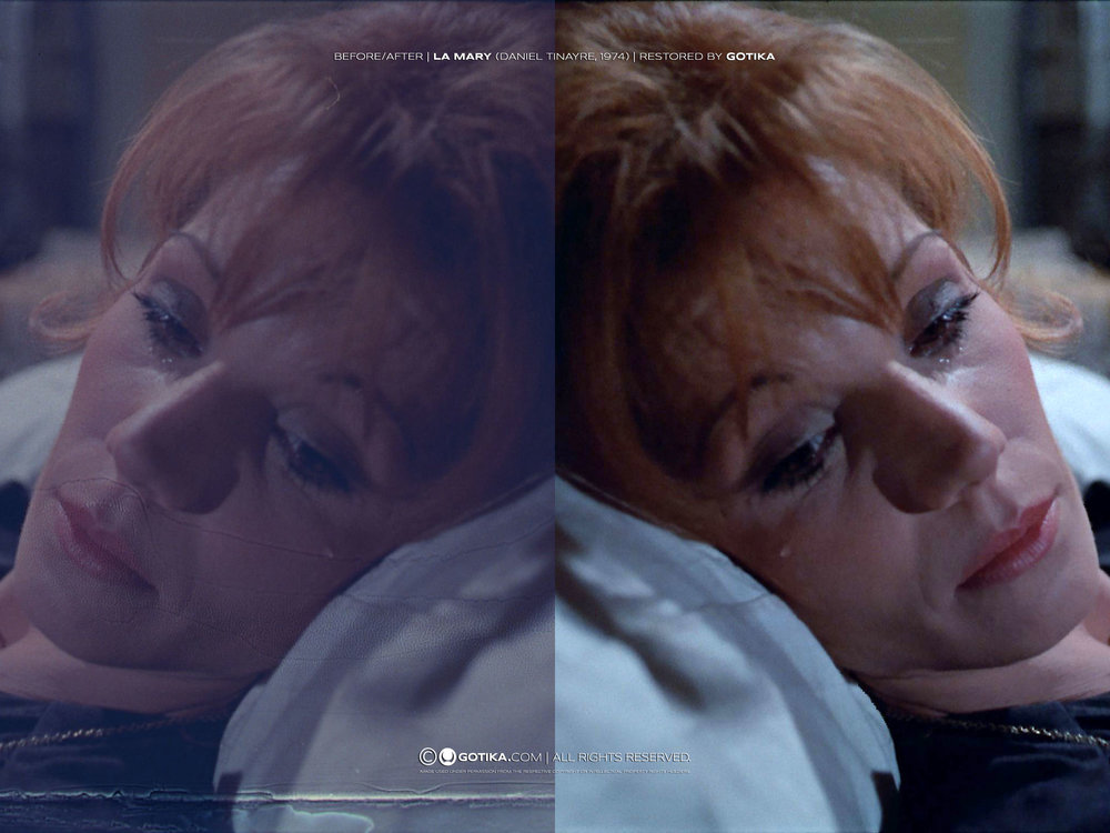 Before  /  After |   La Mary (Daniel Tiinayre, 1974) | Restored by GOTIKA