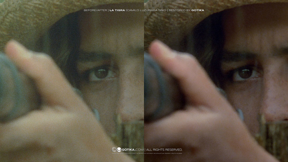 Before/After | La Tigra (Camilo Luzuriaga, 1990) | Restored by GOTIKA