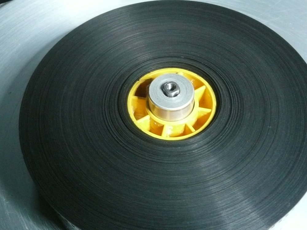 Restored reel prepared to scan