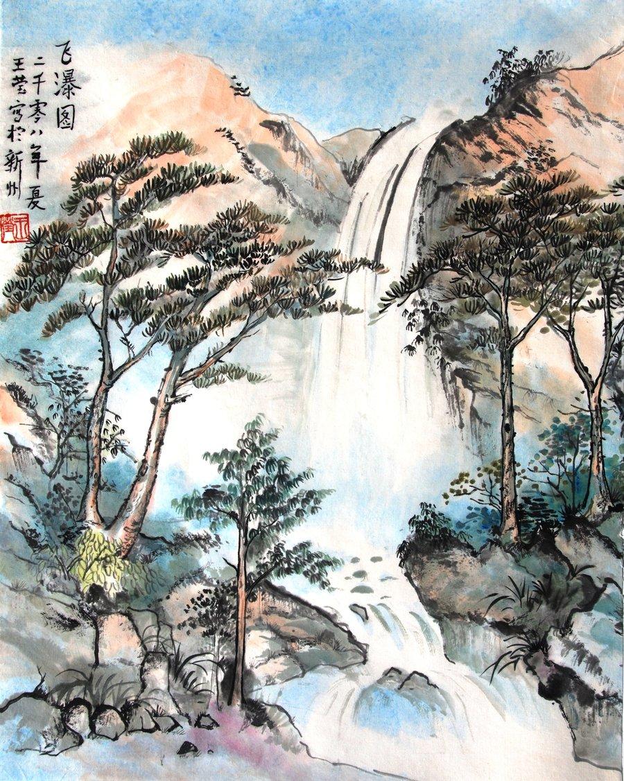 waterfall_by_crystalywang-d2m44v0.jpg