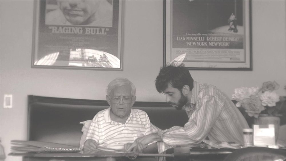 The filmmaker with his mentor, Mardik Martin. Courtesy of Hayk Matevosyan.