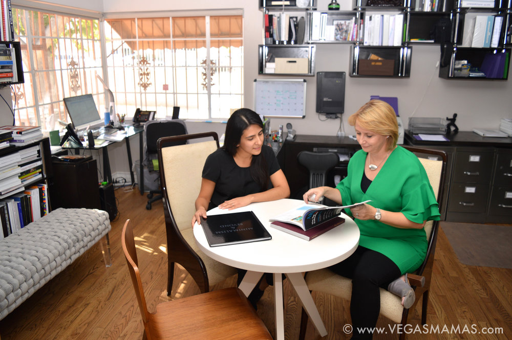 Michele seated with her Executive Assistant, Diana Cosio